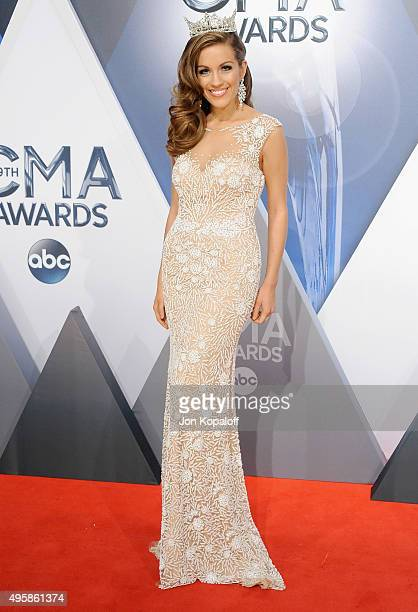 Miss America Betty Cantrell attends the 49th annual CMA Awards at the Bridgestone Arena on November 4 2015 in Nashville Tennessee