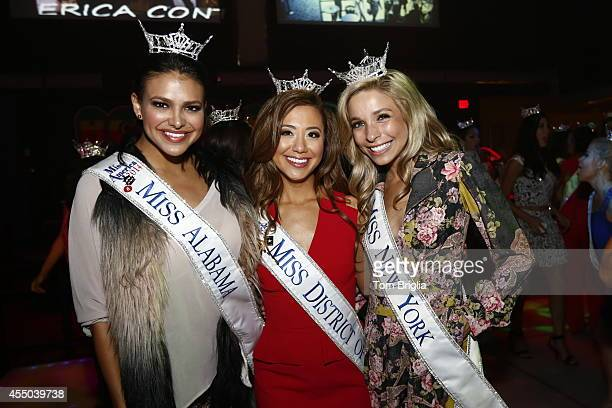 Miss America Contestants Miss Alabama Caitlin Brunell Miss District of Columbia Teresa Davis and Kira Kazantsev along with the other Contestants...