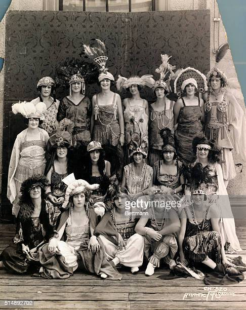 Miss America contestants pose for photograph.