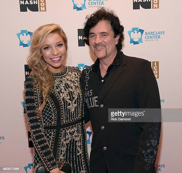 Miss America Kira Kazantsev and president and CEO of Big Machine Label Group Scott Borchetta attend the Inaugural Nash Icon ACC Awards postshow party...