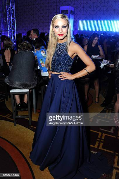 Miss America Kira Kazantsev attends the official 2014 American Music Awards after party at the at Nokia Theatre LA Live on November 23 2014 in Los...