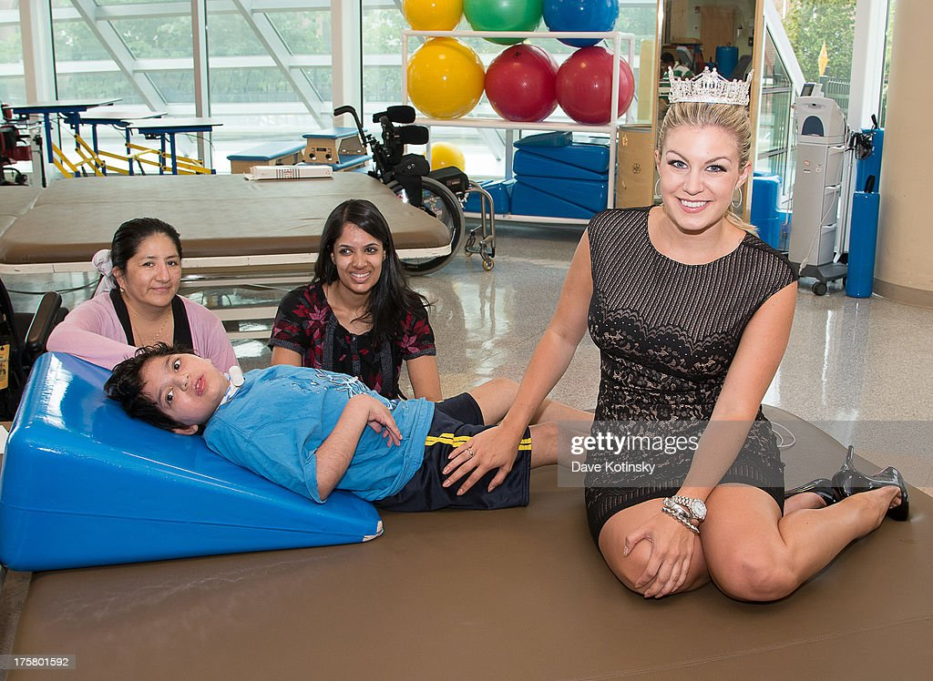Miss America 2013, Mallory Hytes Hagan Visits PSE&G Children's Specialized Hospital