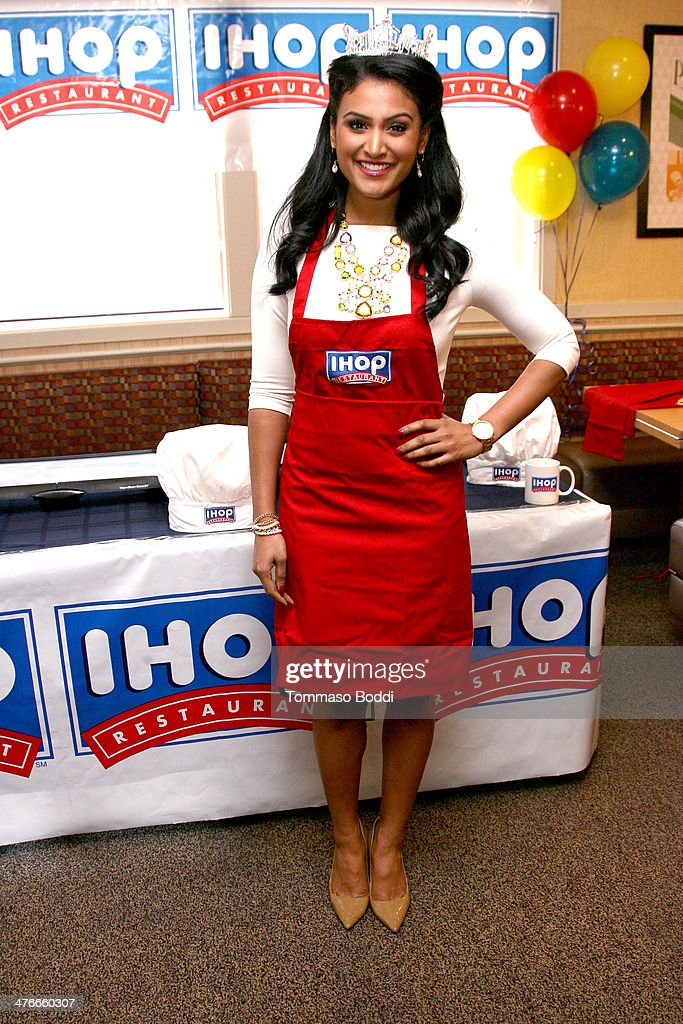Miss America Nina Davuluri Supports IHOP's National Pancake Day Fundraiser In L.A.