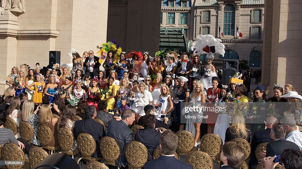 Miss America Pageant Contestants attend the 2011 Miss America's 'Show Us Your Shoes' Parade at Paris Las Vegas on January 14, 2011 in Las Vegas, Nevada.