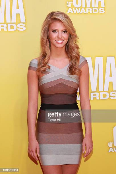 Miss America's Outstanding Teen Elizabeth Fechtel attends the 46th annual CMA Awards at the Bridgestone Arena on November 1 2012 in Nashville...