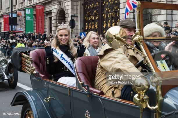 Miss America's Outstanding Teen Elizabeth Hibbs participates in London's New Year's Day Parade 2019 Around 500000 spectators gather along the parade...