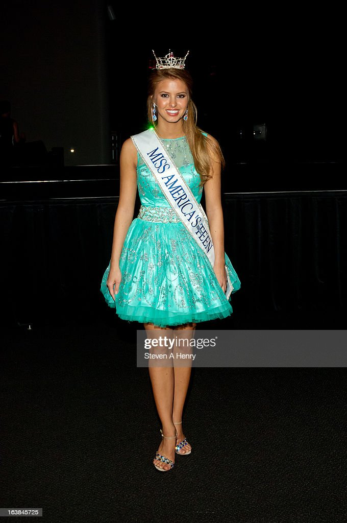 Miss America's Outstanding Teen Rachel Wyatt attends the Miss America 2013 Homecoming Gala at The Fashion Institute of Technology on March 16, 2013 in New York City.