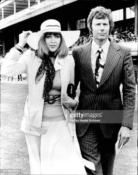 Miss Angela Brice and Mr Peter Field Sydney visitor Miss Angela Brice of Mosman was smart in a cream crepe suit with shrimp knitted sweater ocelet...