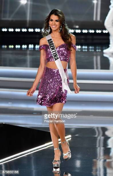 Miss Argentina 2017 Stefania Incandela competes during the 2017 Miss Universe Pageant at The Axis at Planet Hollywood Resort Casino on November 26...