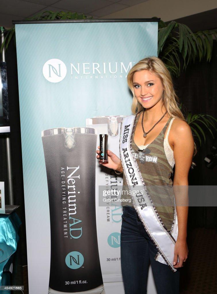 Miss Arizona USA Jordan Wessel arrives at Nerium