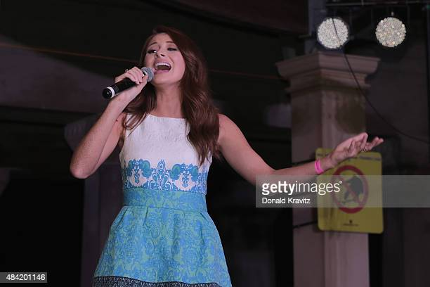 Miss Arkansas 2014 Ashton Campbell performs at Kennedy Plaza on August 15 2015 in Atlantic City New Jersey