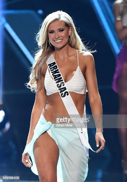 Miss Arkansas USA 2016 Abby Floyd is named a top 10 finalist during the 2016 Miss USA pageant at TMobile Arena on June 5 2016 in Las Vegas Nevada
