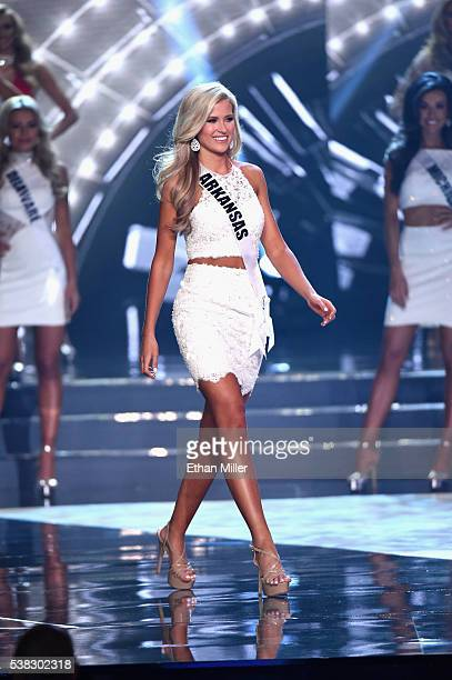 Miss Arkansas USA 2016 Abby Floyd is named a top 15 finalist during the 2016 Miss USA pageant at TMobile Arena on June 5 2016 in Las Vegas Nevada