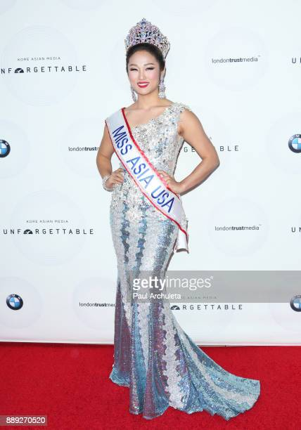 Miss Asia USA Rachel Park attends the 16th annual Unforgettable Gala at The Beverly Hilton Hotel on December 9 2017 in Beverly Hills California