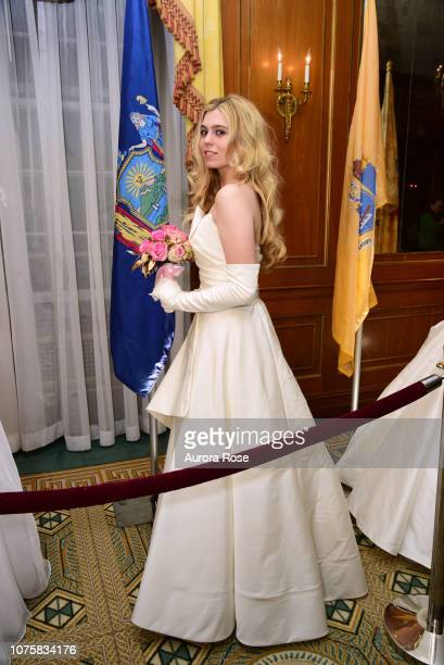Miss Aubrienne KrysiewiczBell attends The International Debutante Ball at The Pierre Hotel on December 29 2018 in New York City