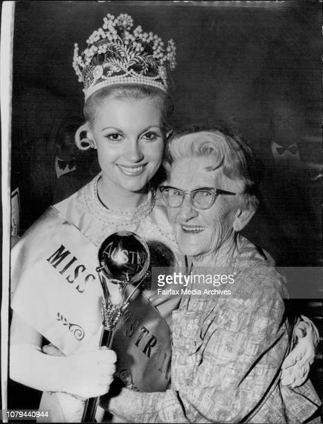 Miss Australia 1972, Miss Gay Walker of Queensland, being crowned at the State Theatre tonight.Miss Australia 1972, Gay Walker of Queensland, is...
