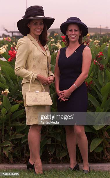 Miss Australia 1999 Kathryn Hay left and Jane McGee at Rosehill Racecourse 24 March 2001 SHD Picture by SEAN DAVEY