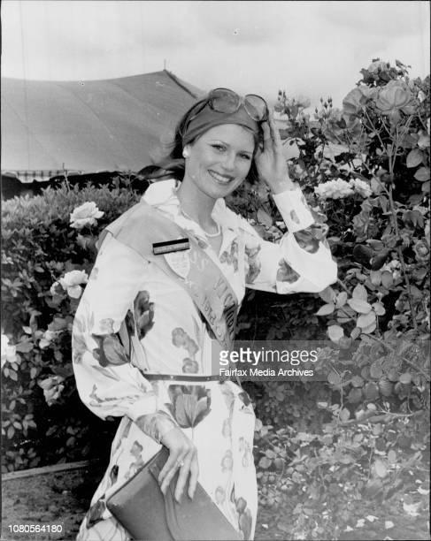 Miss Australia girls at races Miss Victoria Gloria Krope October 11 1977
