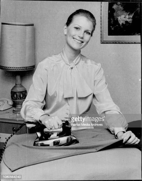 Miss Australia Gloria Krope pictured at her Boulevard Hotel suite today October 26 1977