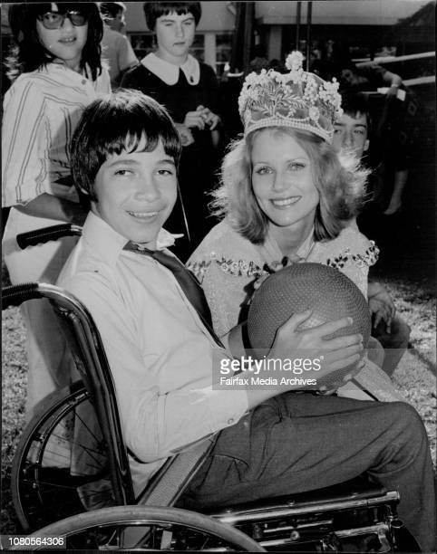 Miss Australia Gloria Krope with children from the spastic centre at MosmanMiss Australia Gloria Krope pictured with Lee one of the pupils at the...