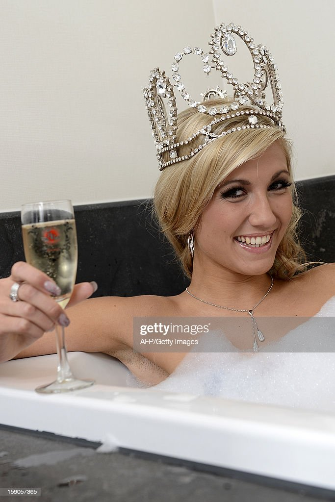 Miss Belgium 2013 Noemie Happart poses for photographers on the traditional day after photoshoot, after she won Miss Belgium 2013 beauty contest, on January 7, 2013, in a hotel in Knokke. WAEM