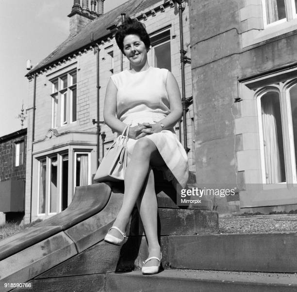 Miss Betty Boothroyd prospective Labour Councillor for Nelson and Colne pictured outside the Spring Bank Hotel Nelson 2nd July 1968