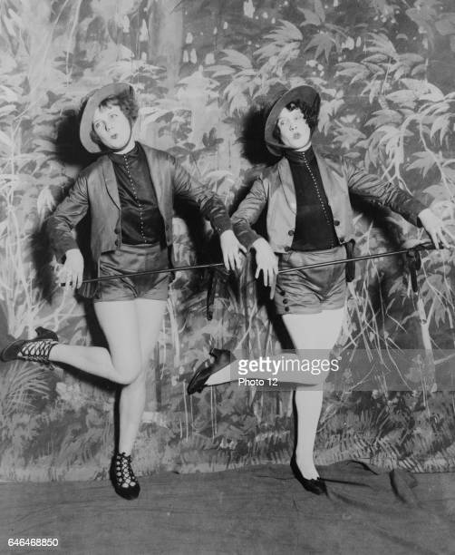 Miss Blanche Lehman and Miss Tereta Sheaffer in a dance number in the second productionof 'Uncle Sam's Follies'