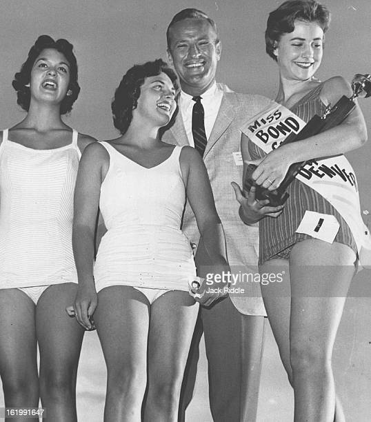 AUG 24 1958 Miss Bond Club of Denver With Attendants Barbara Nussrallah was named Miss Bond Club of Denver Friday night at the club's 24th annual...
