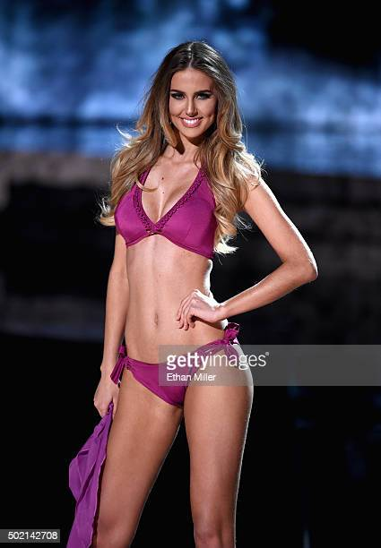 Miss Brazil 2015 Marthina Brandt competes in the swimsuit competition during the 2015 Miss Universe Pageant at The Axis at Planet Hollywood Resort...