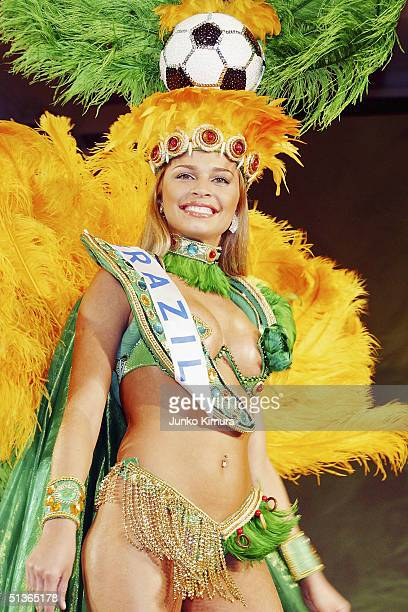 Miss Brazil Grazielli Massafera attends a press preview of the 2004 Miss International Beauty Pageant on September 28 2004 in Tokyo Japan The pageant...