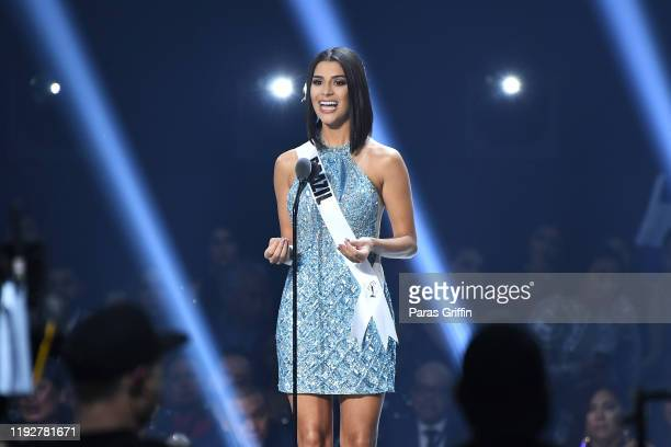 Miss Brazil Julia Horta appears onstage at the 2019 Miss Universe Pageant at Tyler Perry Studios on December 08 2019 in Atlanta Georgia