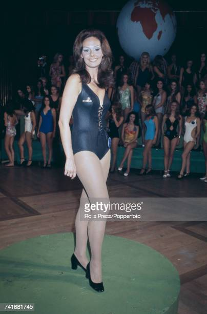 Miss Brazil Lucia Petterle pictured at the Empire ballroom prior to competing in the Miss World 1971 beauty pageant at the Royal Albert Hall in...