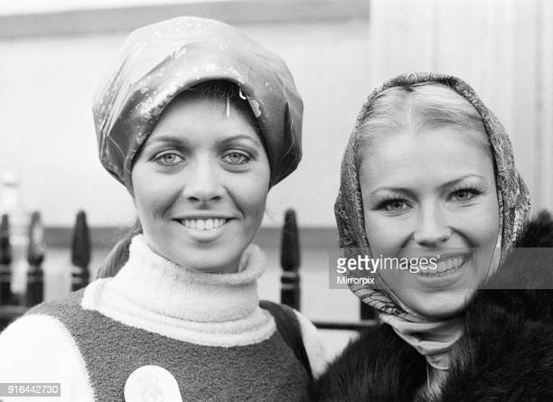 Miss Brazil, Madalena Sbaraini and Miss Germany, Dagmar Winkler , Miss World Contestants, London, 16th November 1977.