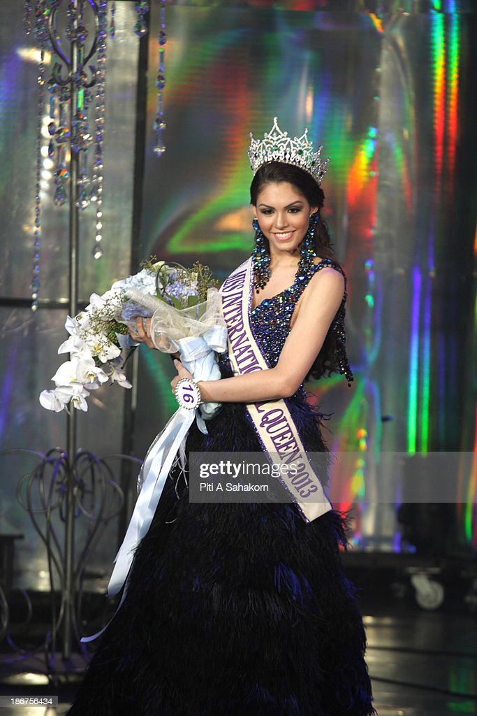 Miss Brazil, Marcelo Ohio poses after being crowned as the winner during the transgender Miss International Queen 2013 at Tiffany's Show theatre in Pattaya city. Twenty-five contestants from 17 countries are participating in the event, which is endowed with prize money of 300,000 Thai baht (10,000 US dollars), a crown with real gems and a free surgery at a plastic surgery clinic in Bangkok..