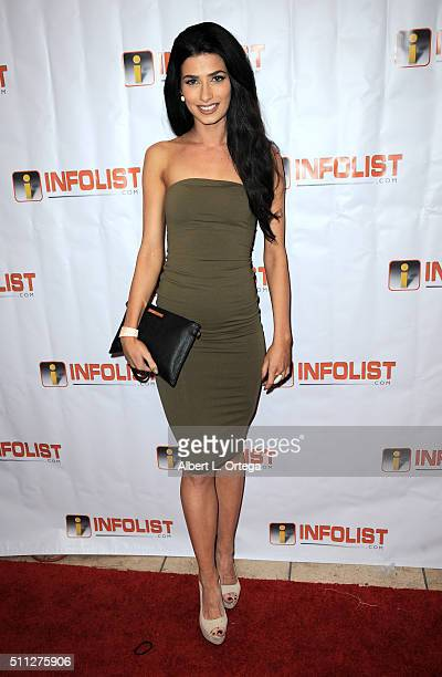 Miss British Empire Bree Connor arrives for the InfoList PreOscar Soiree And Birthday Party for Jeff Gund held at OHM Nightclub on February 18 2016...