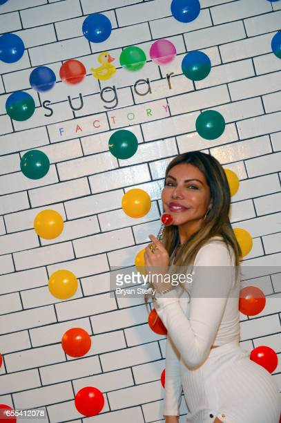 Miss BumBum 2017 Liziane Gutierrez appears at Sugar Factory American Brasserie at the Fashion Show mall as Pitbull's Voli 305 vodka brand's exclusive...