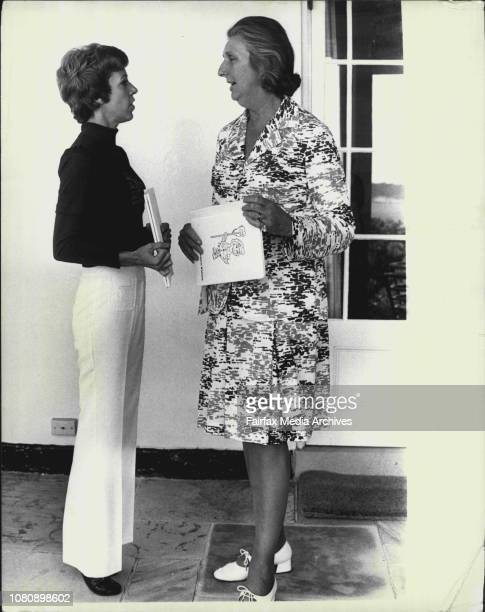 Miss Burnett and Mrs Whitlam on the verandah of Kirribilli House in a relaxed mood International television star Carol Burnett today launched with...