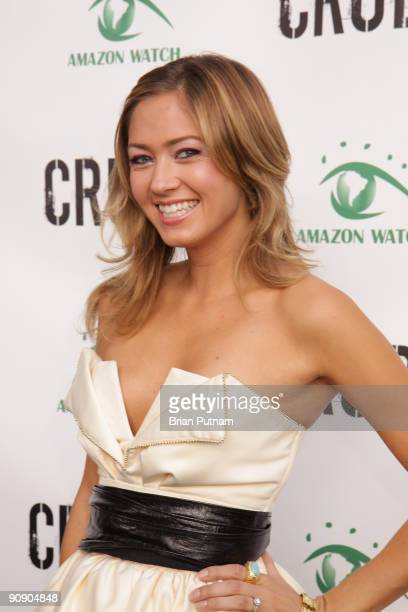 Miss California Tami Farrell arrives for the screening of the film 'CRUDE' at Harmony Gold Theatre on September 17 2009 in Los Angeles California