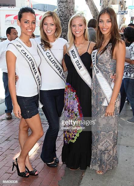 Miss California Teen USA Chelsea Gilligan Miss California USA Tami Farrell Miss USA Kristen Dalton and Miss Universe Dayana Mendoza attend the 'Miss'...