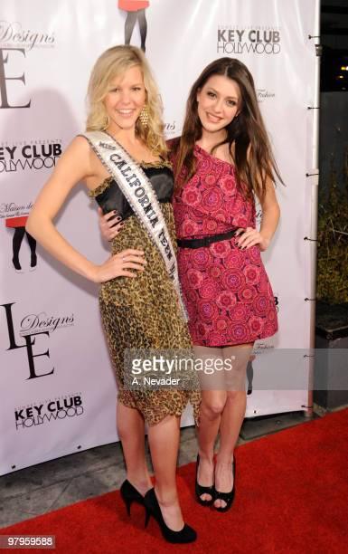 Miss California Teen USA Emma Baker and Kiersten BradaPitts attend LA Rocks Fashion Week Lauren Elaine Fall 2010 Black Label at the Key Club on March...
