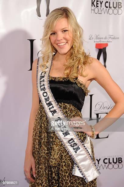 Miss California Teen USA Emma Baker attends LA Rocks Fashion Week Lauren Elaine Fall 2010 Black Label at the Key Club on March 22 2010 in West...