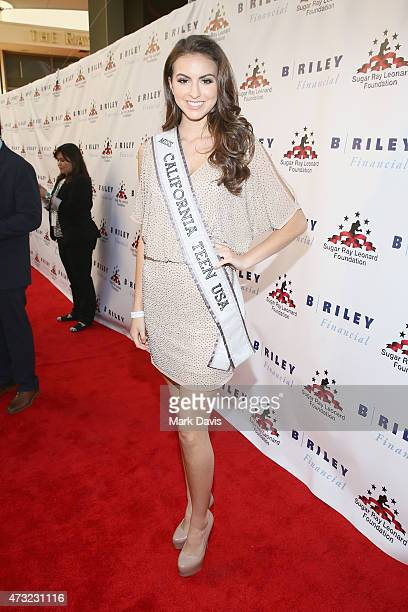 Miss California Teen USA Melanie Mitchell attends B Riley Co And Sugar Ray Leonard Foundation's 6th Annual Big Fighters Big Cause Charity Boxing...