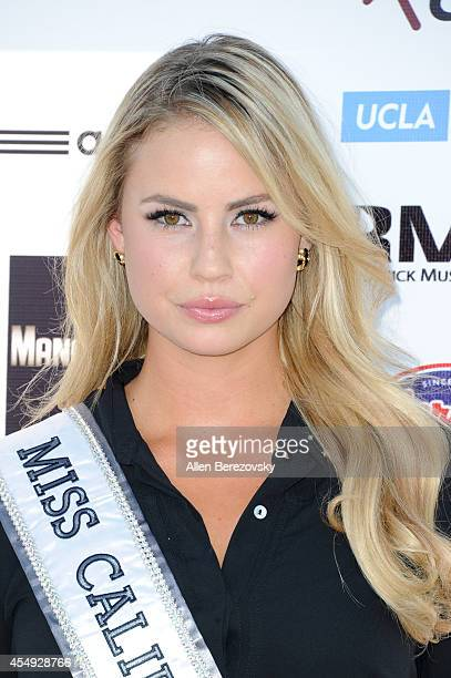 Miss California USA Cassandra Kunze attends the 2nd Annual Celebrity Flag Football Game benefiting Athletes VS Cancer at Granada Hills Charter High...