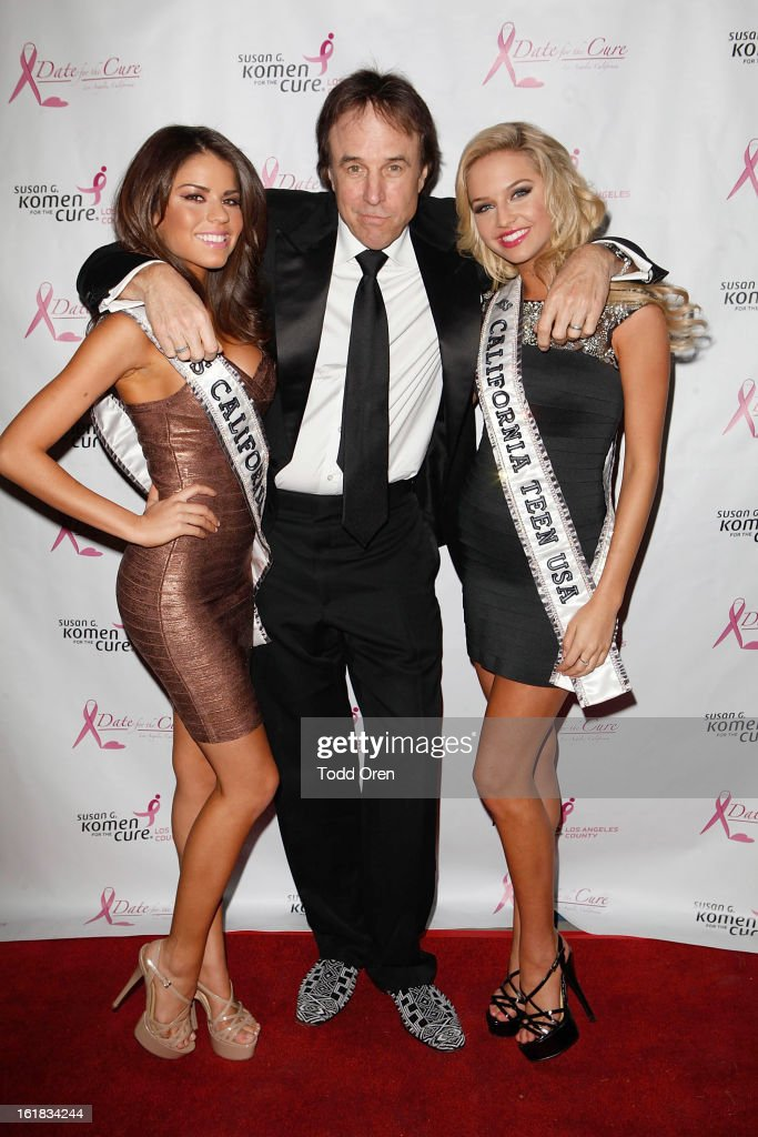 Miss California USA Mabelynn Capeluj, Kevin Nealon and Miss California Teen USA Cassidy Wolf poses at the Date for the Cure To Benefit Susan G. Komen For The Cure on February 16, 2013 in Universal City, California.