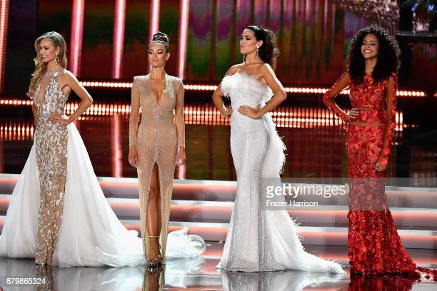 Miss Canada 2017 Lauren Howe Miss South Africa 2017 DemiLeigh NelPeters Miss Spain 2017 Sofia del Prado and Miss Brazil 2017 Monalysa Alcantara...