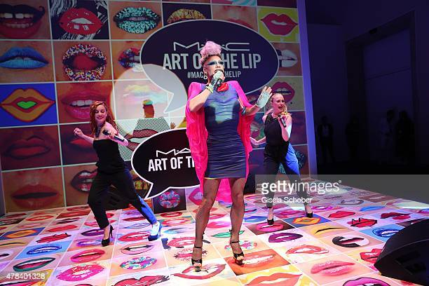 Miss Candy during the presentation of 'Art of the Lip' by MAC Cosmetics at Haus der Kunst on June 24 2015 in Munich Germany