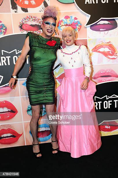 Miss Candy Lily Allen during the presentation of 'Art of the Lip' by MAC Cosmetics at Haus der Kunst on June 24 2015 in Munich Germany