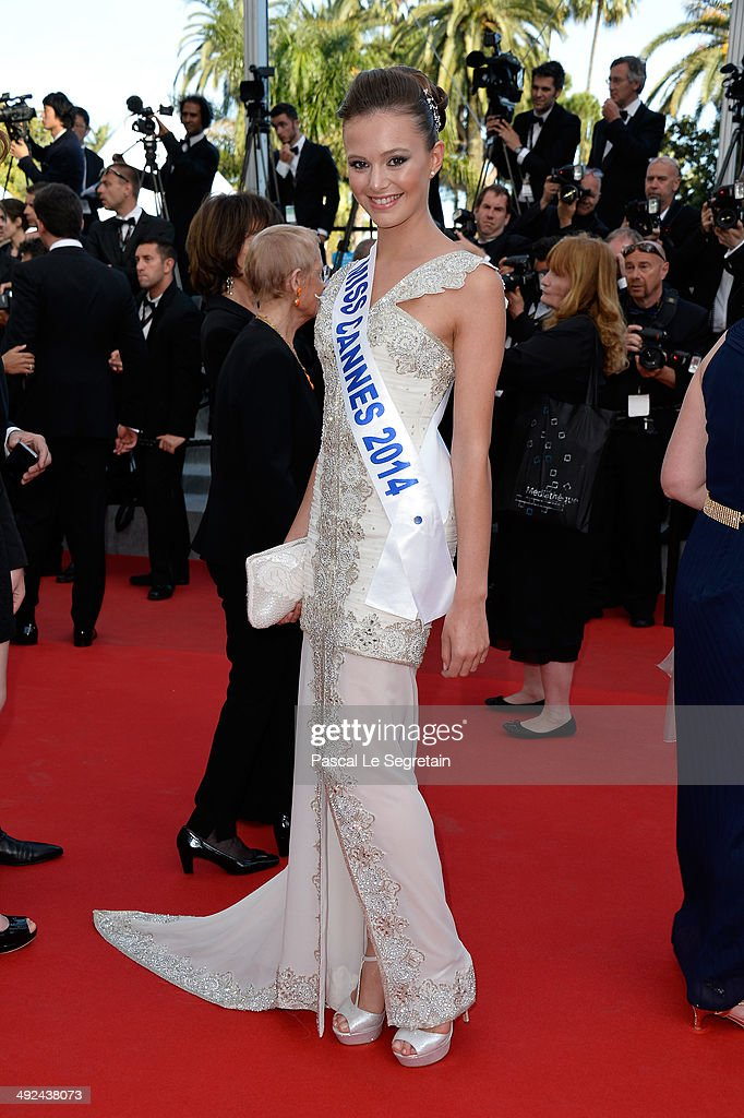 Miss Cannes 2014 Leanna Ferrero attends the 'Two Days, One Night' (Deux Jours, Une Nuit) premiere during the 67th Annual Cannes Film Festival on May 20, 2014 in Cannes, France.