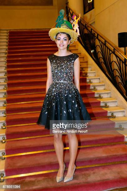 Miss Catherine 2017 Valentine of Chanel she was elected by the jury of the 'Comite Montaigne' and she made her dress herself attend the 'Comite...