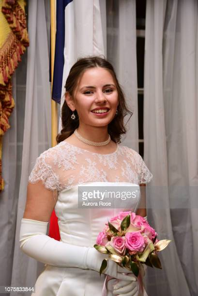 Miss Catherine d'Andigne attends The International Debutante Ball at The Pierre Hotel on December 29 2018 in New York City